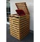 PROMADINO Mülltonnenbox »Vario«, Kiefernholz, honigbraun, BxHxT: 77 x 122 x 92 cm-Thumbnail
