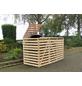 PROMADINO Mülltonnenbox »Vario«, Kiefernholz, natur, BxHxT: 219 x 122 x 92 cm-Thumbnail