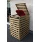 PROMADINO Mülltonnenbox »Vario«, Kiefernholz, natur, BxHxT: 77 x 122 x 92 cm-Thumbnail