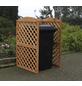 PROMADINO Mülltonnenspaliersystem, BxHxT: 86,5 x 128 x 78,5 cm, braun-Thumbnail