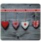 WENKO Multi-Platte »Herzen«, BxHxL: 56 x 0,5 x 50 cm, Glas/Silikon, mehrfarbig/transparent-Thumbnail
