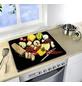 WENKO Multi-Platte »Hot Peperoni«, BxHxT: 56 x 0,5 x 50 cm, Glas/Silikon, mehrfarbig-Thumbnail
