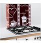 WENKO Multi-Platte »Kaffeeduft«, BxHxL: 56 x 0,5 x 50 cm, Glas/Silikon, mehrfarbig/transparent-Thumbnail