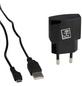 2GO Netzlade-Set, Schwarz, USB-Buchse, Micro-USB-Stecker-Thumbnail