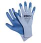 KIXX Nylonhandschuhe »Nylon/Polyurethan«, blau/himmelblau-Thumbnail