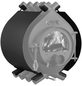 KANUK® Ofenverkleidung für Warmluftofen Kanuk Original 15 kW, BxL: 63 x 63 cm, Stahl-Thumbnail