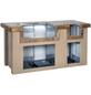 Outdoor-Küche, Stahl, braun/terrakottafarben, BxHxT: 193 x 99 x 84 cm-Thumbnail