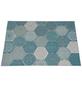 GARDEN IMPRESSIONS Outdoor-Teppich »Hexagon«, BxL: 170 x 120 cm, türkis/weiß/grau-Thumbnail