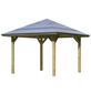 KARIBU Pavillon »Bergen 1«, Walmdach, quadratisch, BxT: 338 x 338 cm, inkl. Dacheindeckung-Thumbnail