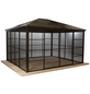 SOJAG Pavillon »Castel«, Walmdach, rechteckig, BxT: 427 x 362 cm, inkl. Dacheindeckung-Thumbnail