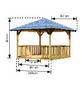 KARIBU Pavillon »Cordoba«, Spitzdach, quadratisch, BxT: 357 x 357 cm, inkl. Dacheindeckung-Thumbnail