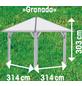 KARIBU Pavillon »Granada«, Walmdach, viereckig, BxT: 377 x 377 cm, inkl. Dacheindeckung-Thumbnail