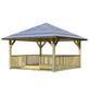 KARIBU Pavillon »Holm 1«, Walmdach, quadratisch, BxT: 431 x 431 cm, inkl. Dacheindeckung-Thumbnail