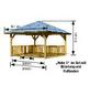 KARIBU Pavillon »Holm 1«, Walmdach, viereckig, BxHxT: 431 x 315 x 431 cm-Thumbnail