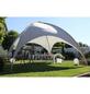 LECO Pavillon, Kuppelspitzdach, quadratisch, BxT: 500 x 500 cm, inkl. Dacheindeckung-Thumbnail