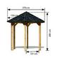 KARIBU Pavillon »Lissabon«, Walmdach, sechseckig, BxT: 235 x 208 cm, ohne Dacheindeckung-Thumbnail