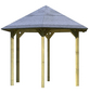 KARIBU Pavillon »Madrid«, Walmdach, sechseckig, BxT: 276 x 275 cm, ohne Dacheindeckung-Thumbnail
