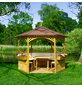 PROMADINO Pavillon »Palma«, Zeltdach, sechseckig, BxT: 326 x 326 cm, inkl. Dacheindeckung-Thumbnail