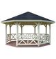 PALMAKO AS Pavillon »Rhodos«, Spitzdach, achteckig, BxT: 551 x 551 cm, ohne Dacheindeckung-Thumbnail