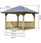 KARIBU Pavillon-Set »Bergen 1«, Walmdach, viereckig, BxHxT: 338 x 290 x 338 cm-Thumbnail