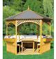 PROMADINO Pavillon-Set »Palma«, Sechseckdach, sechseckig, BxT: 326 x 326 cm, inkl. Dacheindeckung-Thumbnail