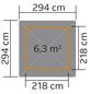 WEKA Pavillon-Set »Paradies 1«, quadratisch, B x T: 294 x 294 cm-Thumbnail