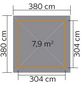 WEKA Pavillon-Set »Paradies 2«, quadratisch, BxT: 380 x 380 cm, inkl. Dacheindeckung-Thumbnail