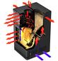 FIREPLACE Pelletofen »Gravio«, 8 kw, BxHxT: 49,8 x 93,1 x 57 cm-Thumbnail