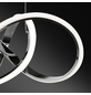 wofi® Pendelleuchte chromfarben 44 W, 1-flammig, dimmbar, inkl. Leuchtmittel in warmweiß-Thumbnail