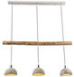 GLOBO LIGHTING Pendelleuchte »JEBEL«, Holz/Metall-Thumbnail