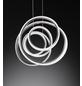wofi® Pendelleuchte stahlfarben 64 W, 1-flammig, dimmbar, inkl. Leuchtmittel in warmweiß-Thumbnail
