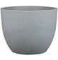 CASAYA Pflanzgefäß »PALERMO«, Kunststoff, grau, konisch/rund-Thumbnail
