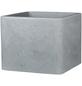 CASAYA Pflanzgefäß »QUADRO«, Kunststoff, grau, rechteckig mit abgerundeten Ecken-Thumbnail