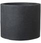 CASAYA Pflanzgefäß »ROMA«, Kunststoff, schwarz, zylindrisch-Thumbnail