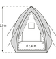 PERGART Pflanzzelt »Hawaii«, 5,76 m², Gewebe, winterfest-Thumbnail