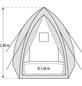 PERGART Pflanzzelt »Hawaii«, BxHxL: 340 x 280 x 340 cm, Gewebe-Thumbnail