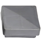 FLORAWORLD Pfostenkappe, BxHxT: 3 x 6 x 6 cm, silberfarben, für Pfostenabdeckung-Thumbnail