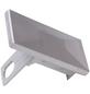 FLORAWORLD Pfostenkappe, BxHxT: 9,5 x 7,2 x 4,5 cm, silberfarben, für Premium -Pfosten 60 x 40 mm-Thumbnail