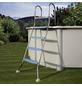 GRE Pool-Leiter, Stahl, geeignet für: Aufstellbecken bis 132 cm Höhe-Thumbnail