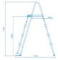 INTEX Pool-Sicherheitsleiter, Stahl, geeignet für: Aufstellpools mit 122 cm Höhe-Thumbnail