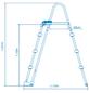 INTEX Pool-Sicherheitsleiter, Stahl, geeignet für: Aufstellpools mit 91 bis 107 cm Höhe-Thumbnail