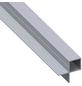 alfer® aluminium Quadratrohr, BxHxL: 43,5 x 23,5 x 1000 mm, silberfarben-Thumbnail