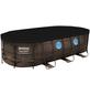 BESTWAY Rechteckpool »Power Steel™«, rattanfarben/grau, BxHxL: 549 x 122 x 574 cm-Thumbnail