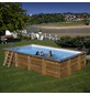 GRE Rechteckpool Set »Evora«, oval, BxLxH: 420 x 620 x 133 cm-Thumbnail