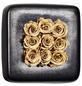 Rosen in Keramik »Infinity-Bloom«,  Chest, anthrazit/champagne, BxHxT: 16 x 16 x 9  cm-Thumbnail