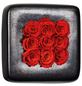 Rosen in Keramik »Infinity-Bloom«, Chest, anthrazit/rot, BxHxT: 16 x 16 x 9  cm-Thumbnail