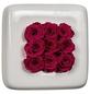 Rosen in Keramik »Infinity-Bloom«,  Chest, weiss/berry, BxHxT: 16 x 16 x 9  cm-Thumbnail