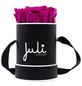 JULI FLOWERS Rosenbox, pink, Größe: XS mit 4 Rosen, rund-Thumbnail