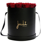 JULI FLOWERS Rosenbox, rot, Größe: Small mit 19 Rosen, rund-Thumbnail