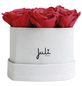 JULI FLOWERS Rosenbox, rot, Größe: XS mit 9 Rosen, herzförmig-Thumbnail
